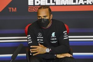Pole man Lewis Hamilton, Mercedes, in the post Qualifying Press Conference