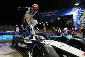 Edoardo Mortara, Venturi Racing, 2nd position, arrives in Parc Ferme