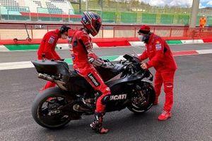 Michele Pirro en Mugello con la Ducati