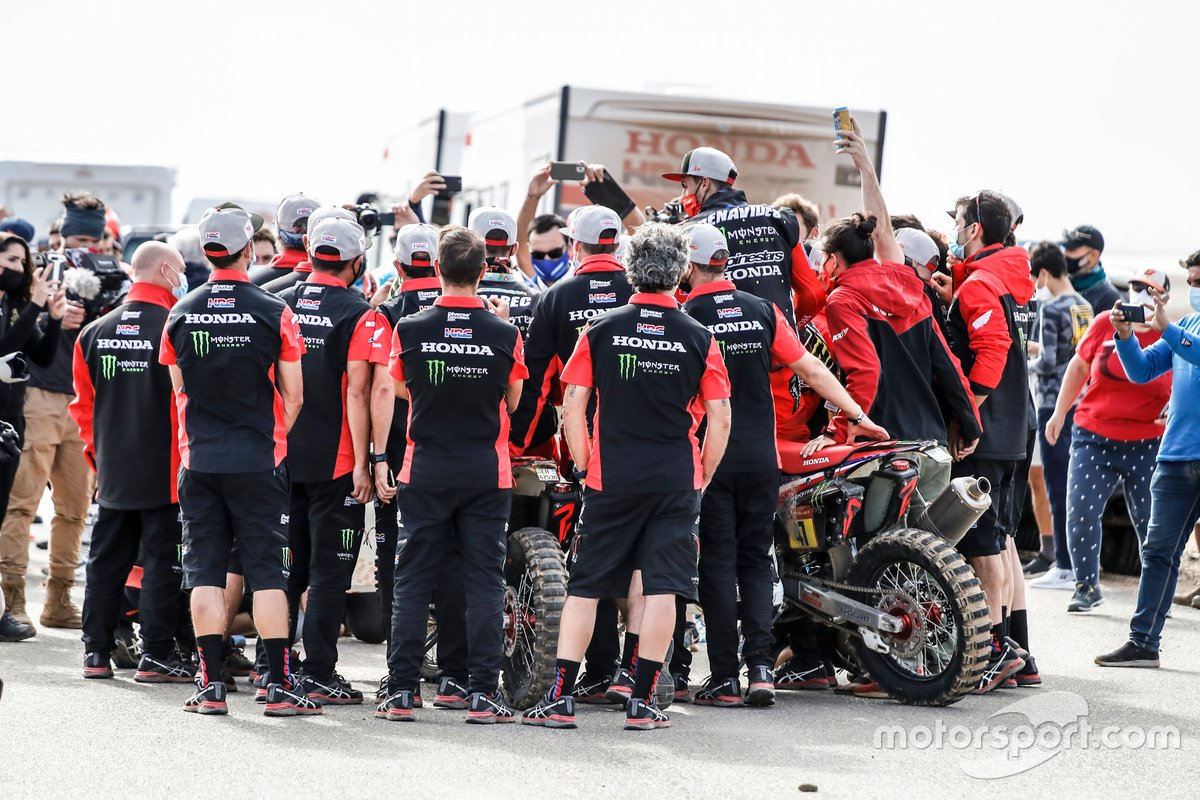 El Monster Energy Honda Team celebran