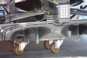 McLaren MCL35 diffuser detail