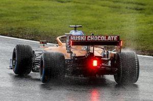 Carlos Sainz Jr., McLaren MCL35, trompea