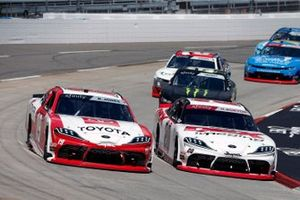 Brandon Jones, Joe Gibbs Racing, Toyota Supra Toyota and Harrison Burton, Joe Gibbs Racing, Toyota Supra DEX Imaging