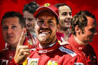Sebastian Vettel en la historia de Ferrari