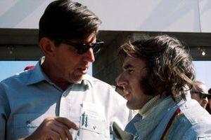 Tyrrell Team Owner Ken Tyrrell, Jackie Stewart, Tyrrell