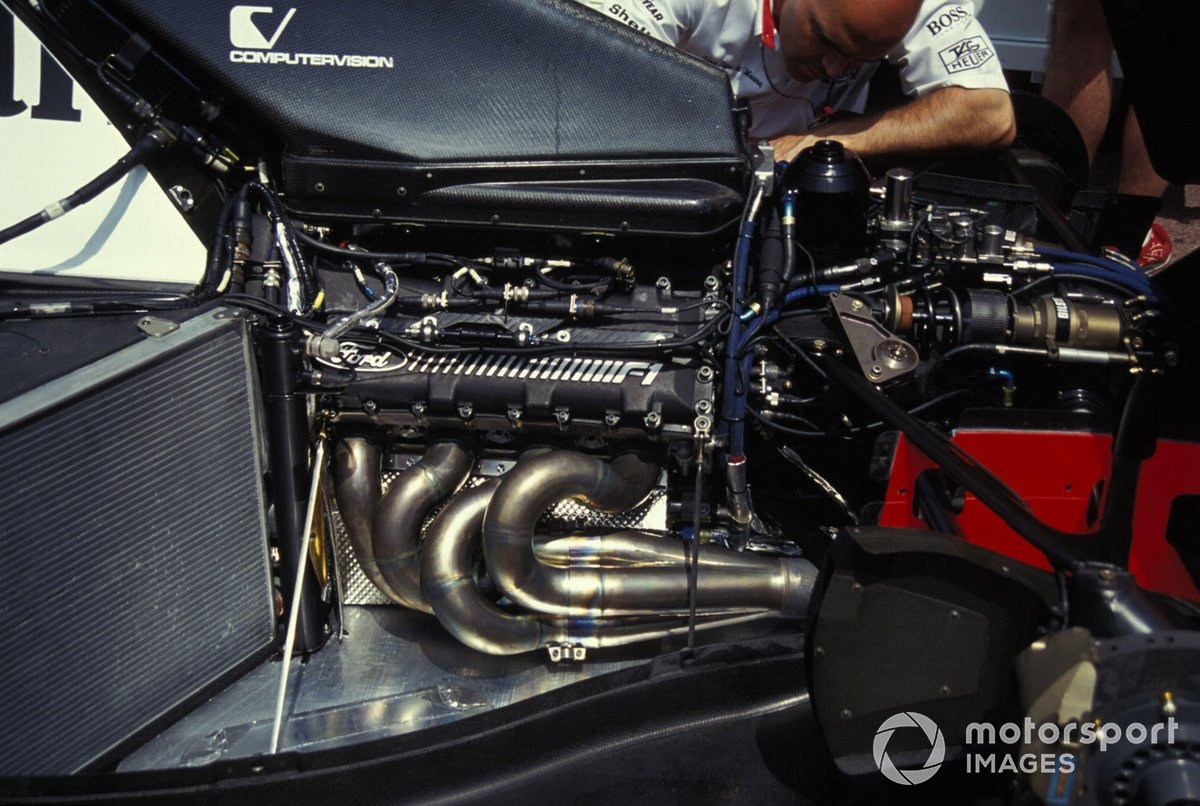 The Ford engine in one of the McLaren MP4-8