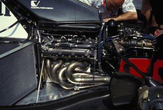 El motor Ford de uno de los McLaren MP4-8