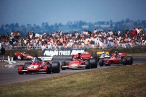 Jacky Ickx, Ferrari 312B2, Emerson Fittipaldi, Lotus 72D Ford, Ronnie Peterson, March 711 Ford, GP di Gran Bretagna del 1971
