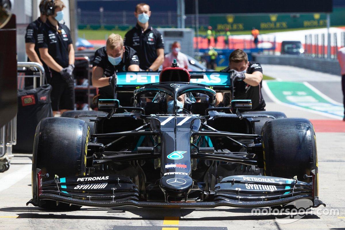 El monoplaza de Valtteri Bottas, Mercedes AMG F1 W11