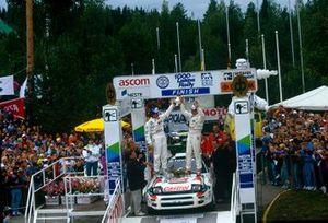 Ganadores Juha Kankkunen, Denis Giraudet, Toyota Celica Turbo 4WD