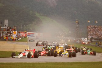 Alain Prost, McLaren MP4/4 Honda, Nigel Mansell, Williams FW12 Judd, Gerhard Berger, Ferrari F187/88C