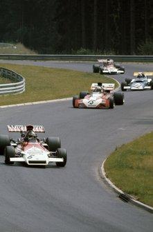 Jean-Pierre Beltoise, BRM P160C, Tim Schenken, Surtees TS9B Ford, Rolf Stommelen, March 721 Ford y Howden Ganley, BRM P160C
