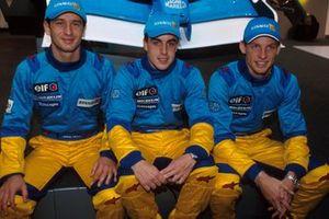 Jarno Trulli, Fernando Alonso, Jenson Button, Renault F1 Team