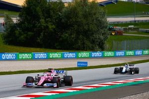 Sergio Perez, Racing Point RP20, leads Nicholas Latifi, Williams FW43