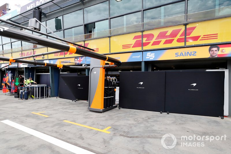 The McLaren pits