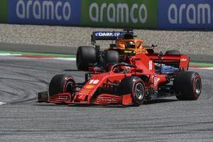 Charles Leclerc, Ferrari SF1000 and Carlos Sainz Jr., McLaren MCL35