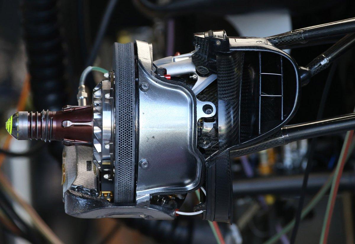 Detalle del freno del Haas VF-20