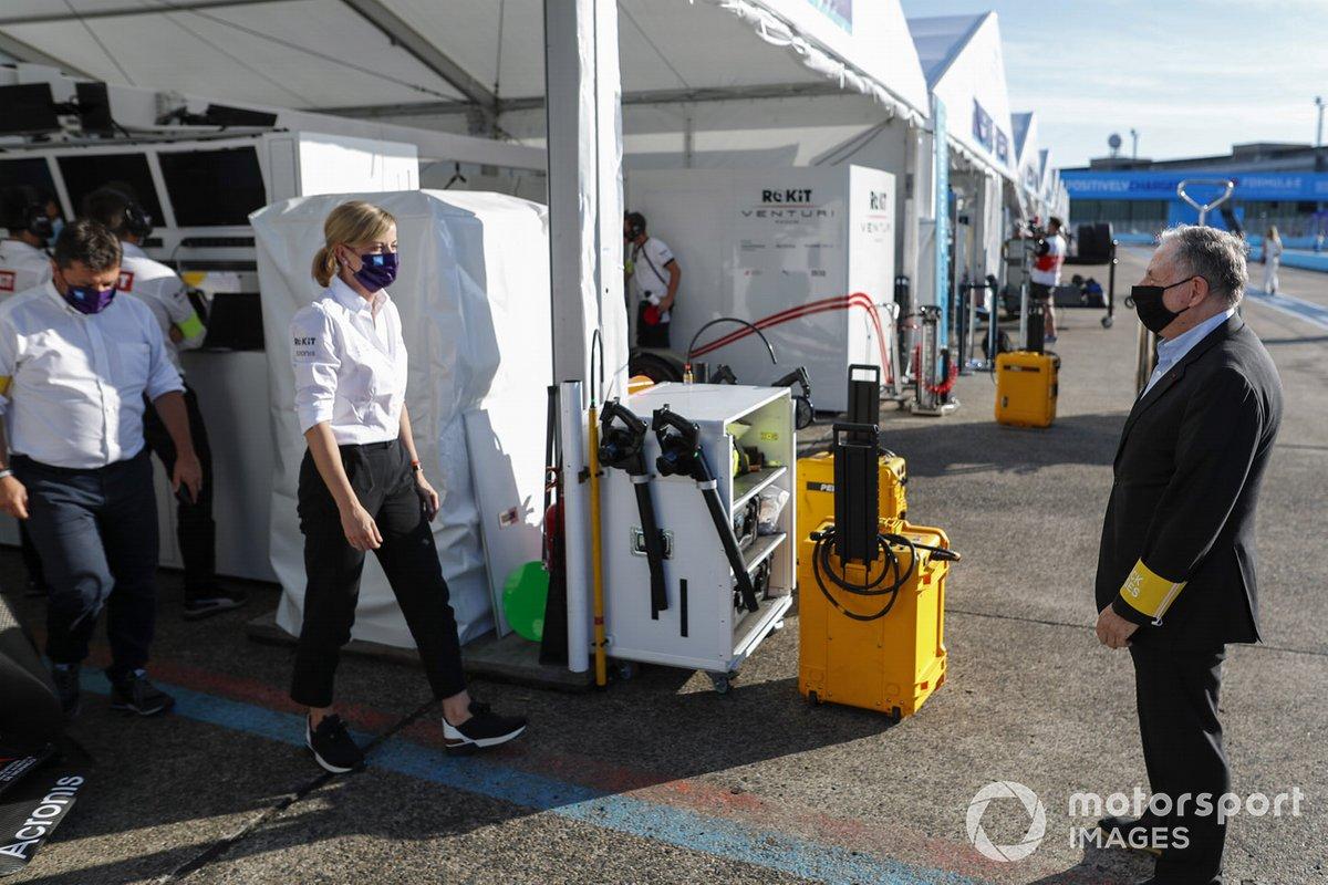 Susie Wolff, Jefa de equipo, Venturi, y Jean Todt, Presidente de la FIA