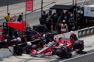 Alex Palou, Dale Coyne Racing with Team Goh Honda s'arrête au stand