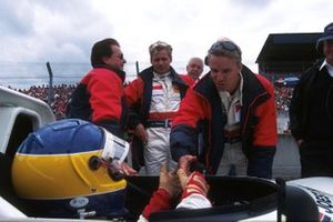 Stefan Johansson, Michele Alboreto with team owner Reinhold Joest and team mate Tom Kristensen
