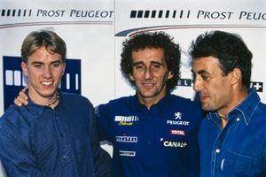 Nick Heidfeld, Alain Prost, Team Principal Prost GP, alongside Jean Alesi