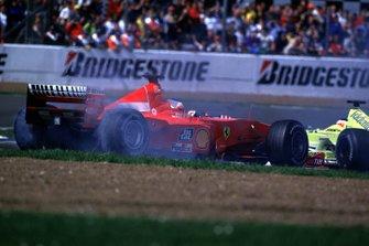 Разворот Рубенса Баррикелло, Ferrari F1-2000, из-за отказа гидравлики