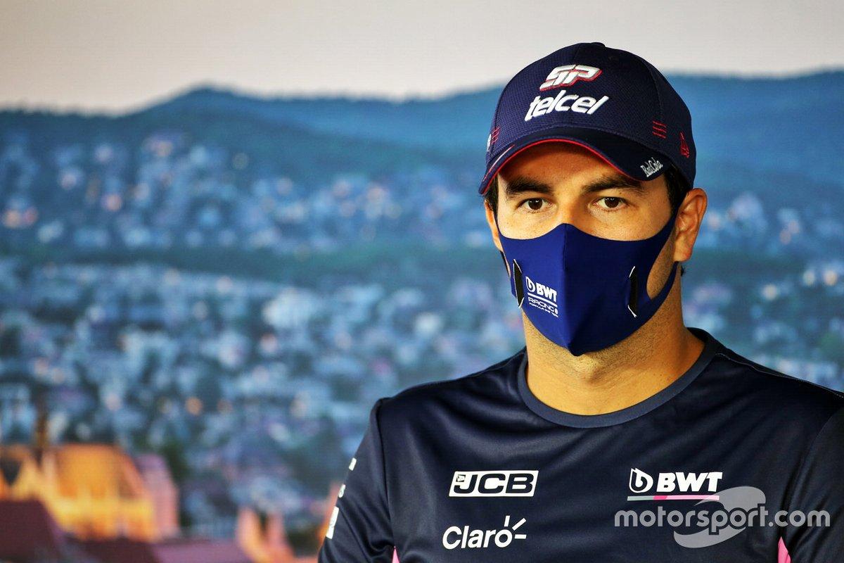 Sergio Pérez, Racing Point en la conferencia de prensa