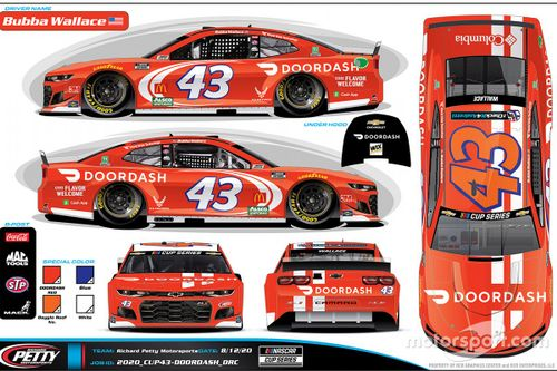 Bubba Wallace livery unveil