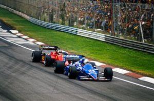 Andrea de Cesaris, Ligier JS25 Renault, Stefan Johansson, Ferrari 156/85