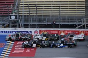 Grant Enfinger, ThorSport Racing, Ford F-150 Farm Paint/Curb Records nJohn Hunter Nemechek, NEMCO Motorsports, Ford F-150 Fire Alarm Services, Inc. Raphael Lessard, Kyle Busch Motorsports, Toyota Tundra SiriusXM Sheldon Creed, GMS Racing, Chevrolet Silverado Chevy Accessories Austin Hill, Hattori Racing Enterprises, Toyota Tundra TRD / United Rentals