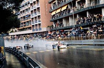 Start zum GP Monaco 1972 in Monte Carlo: Jean-Pierre Beltoise, BRM P160B, führt