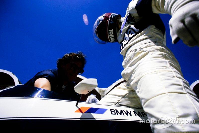 Teo Fabi gets into his Brabham BT53 BMW
