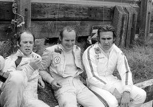 Peter Gethin, Mike Hailwood y Carlos Reutemann