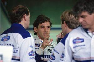 Ayrton Senna, Williams, mit Adrian Newey und David Brown