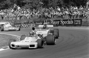 Wilson Fittipaldi, Brabham BT34 Ford, Mike Beuttler, March 721G Ford y Chris Amon, Matra MS120C