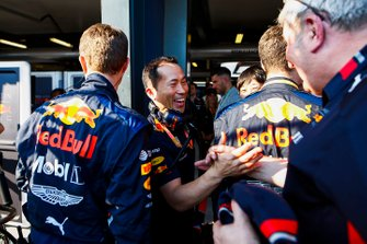 Red Bull team aan podium voor Max Verstappen, Red Bull Racing