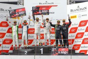 Race 1 podium GT4 celebrations