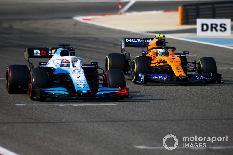Джордж Расселл, Williams Racing FW42, и Ландо Норрис, McLaren MCL34