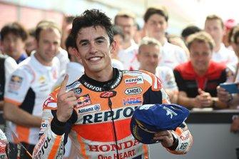 Winnaar Marc Marquez, Repsol Honda Team in parc ferme