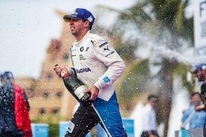 Antonio Felix da Costa, BMW I Andretti Motorsports, 3rd position, celebrates on the podium