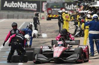 Jack Harvey, Meyer Shank Racing/Schmidt Peterson Motorsports Honda, pit stop