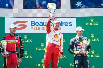 Podyum: Yarış galibi Scott McLaughlin, DJR Team Penske Ford, 2. Chaz Mostert, Tickford Racing Ford, 3. Jamie Whincup, Triple Eight Race Engineering Holden, Larry Perkins