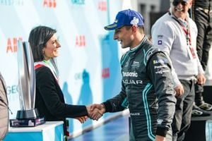 Mitch Evans, Panasonic Jaguar Racing, on the podium