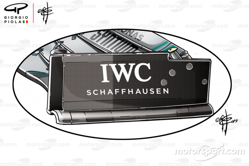 Mercedes W10 front wing endplate