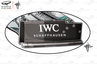 Mercedes W10 voorvleugel endplate