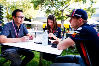 Max Verstappen, Red Bull Racing talks to Motorsport.com journalist Erwin Jaeggi