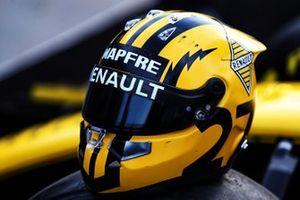 Casco de Nico Hulkenberg, Renault F1 Team