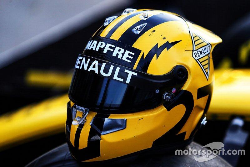 Le casque de Nico Hulkenberg, Renault F1 Team