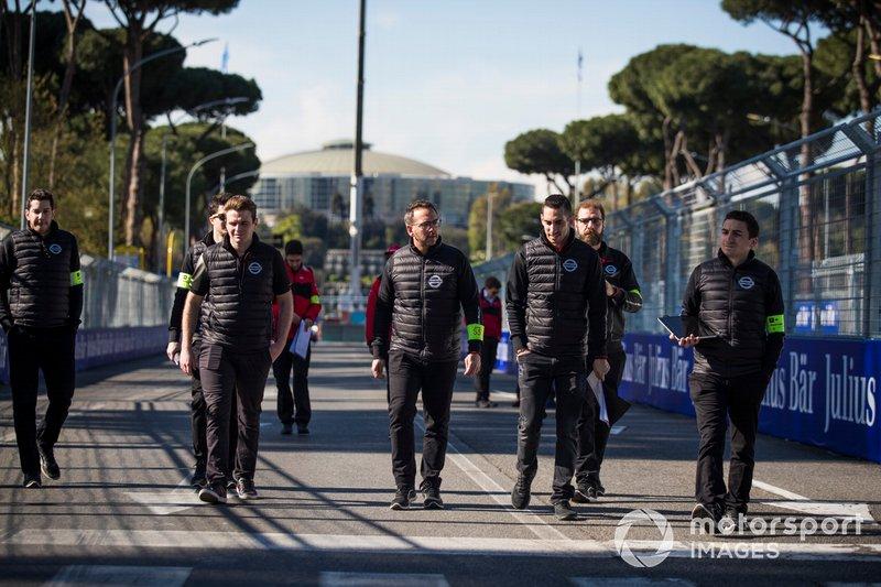 Sébastien Buemi, Nissan e.Dams, durante la track walk