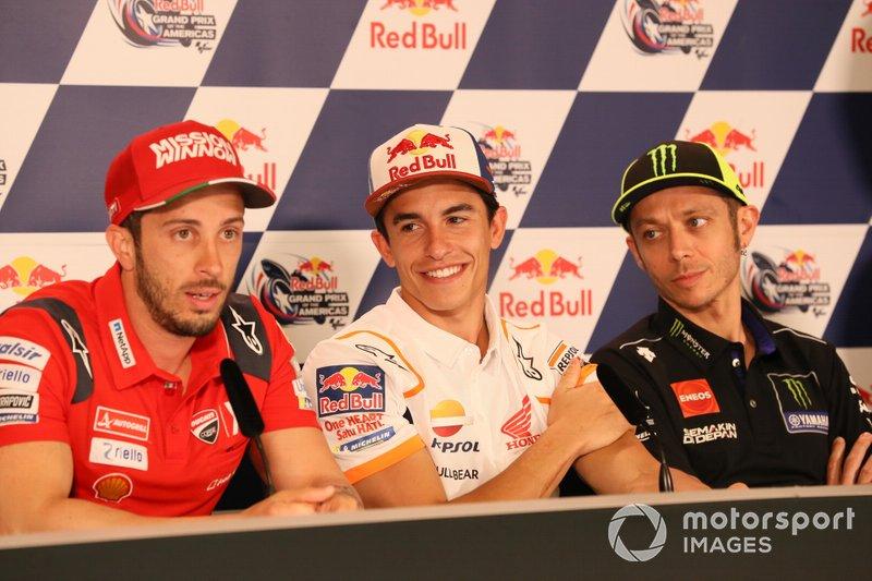 Andrea Dovizioso, Ducati Team, Marc Marquez, Repsol Honda Team, Valentino Rossi, Yamaha Factory Racing, Press Conference